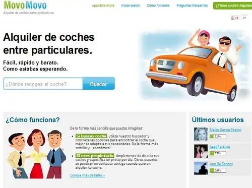 MovoMovo - MovoMovo - Alquiler de coches entre particulares. Los viernes de Ecología Cotidiana