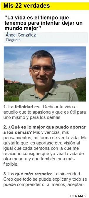 """angel gonzalez piensa es gratis - Me entrevistan en el blog """"Piensa es gratis"""""""
