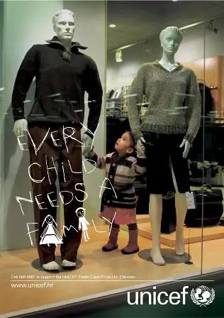 unicef los niños necesitan una familia