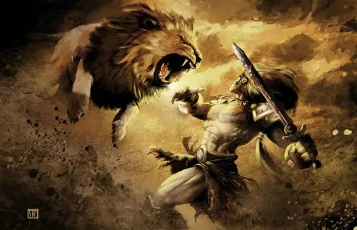 hercules against the lion - El león de Nemea: 5º trabajo de Hércules