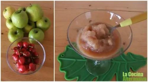 sorbete - Sorbete express de cereza y manzana