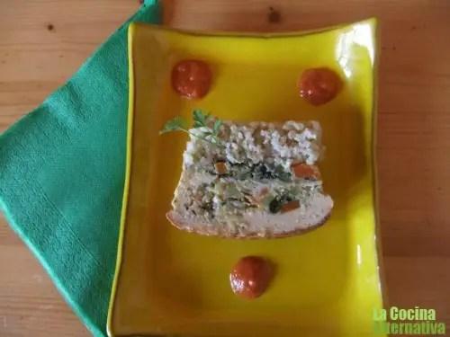 terrina arroz integral y verduritas