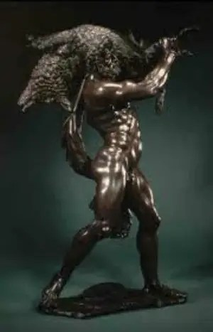 hercules estatua - La captura del jabalí de Erimanto: 7º trabajo de Hércules