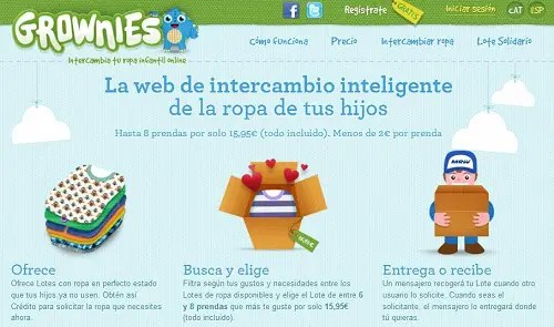 Grownies - intercambio de ropa infantil online