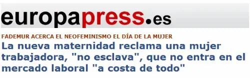 europapress nueva maternidad - PRENSA