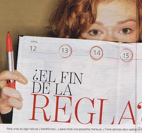 """fin de la regla - El FIN DE LA REGLA. Citan a El Blog Alternativo en la revista Mujer de hoy: ¿Es """"alternativo"""" defender la menstruación?"""