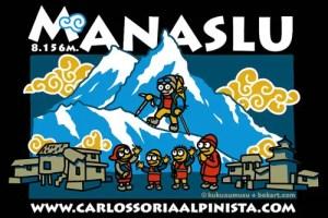 Manaslu9 10.g - Camiseta solidaria de Kukuxumusu para Nepal y el montañismo a los 71 años de Carlos Soria
