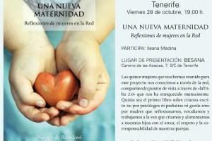 Una Nueva Maternidad presentación TFEw - Tenerife: presentación del libro Una Nueva Maternidad