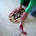 alfombra ovalada - Alfombra ovalada a partir de ropa vieja