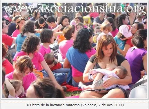 "asociacion sina 2011 - Semana Mundial de la Lactancia Materna 2012: vuelven las ""tetadas colectivas"""