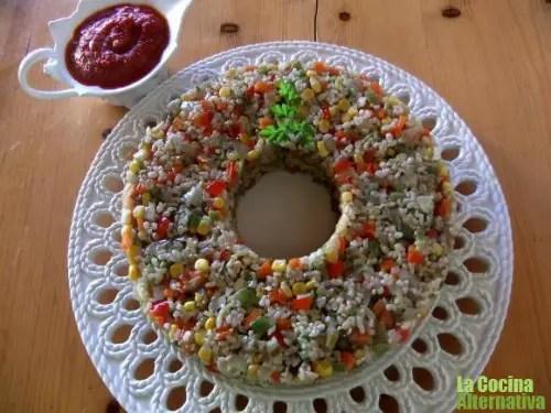 corona1 - corona de arroz con verduritas al wok