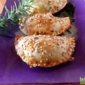 empanadillas - Receta de empanadillas de berenjena asada, tomate y mozarella
