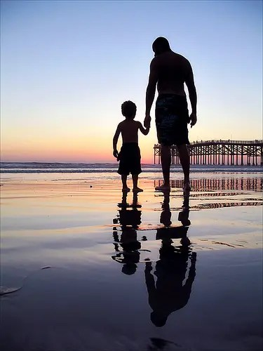 father and son -