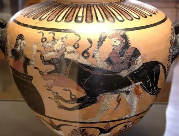 heracles - 10º trabajo de Hércules: matando a Cerbero, guardián del Hades