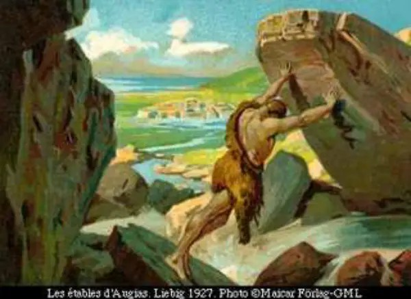 heracles07liebig1 - Limpiando los establos de Augías: 11º trabajo de Hércules