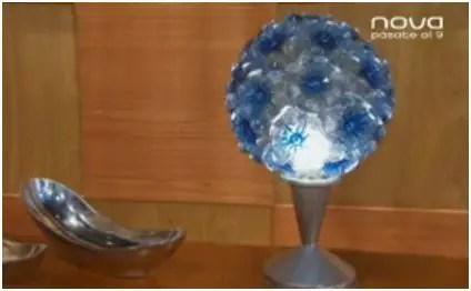 lampara - lampara con botellas de plástico