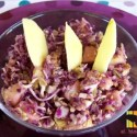 lombarda2 - Ensalada de col lombarda y col blanca crudas a la vinagreta de miel