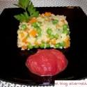 pastel de mijo portada - Pastel de mijo con verduritas y salsa de remolacha