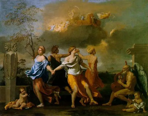 poussin music of time 500x393 -