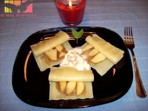 ravilois - raviolis de manzana y cebolla caramelizada