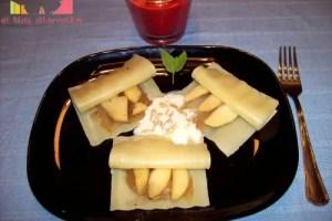 ravilois - Raviolis de manzana y cebolla confitada con piñones