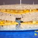 sandwich portada - Sandwich integral de chutney de frutas y queso cheddar