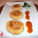 tortitas2 - Delicias de patata, puerros y queso