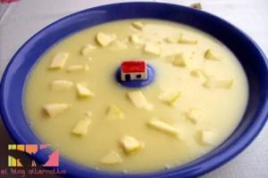vichyssoise - Receta de vichyssoise de puerros y patatas con manzana