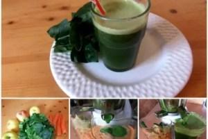 zumo espinacas - Zumo de espinacas, manzanas y zanahorias