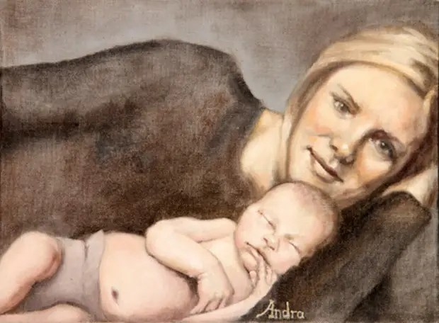 Andra-Hancock-Illustration-Utah-Mother-Baby-reclining-Painting-051