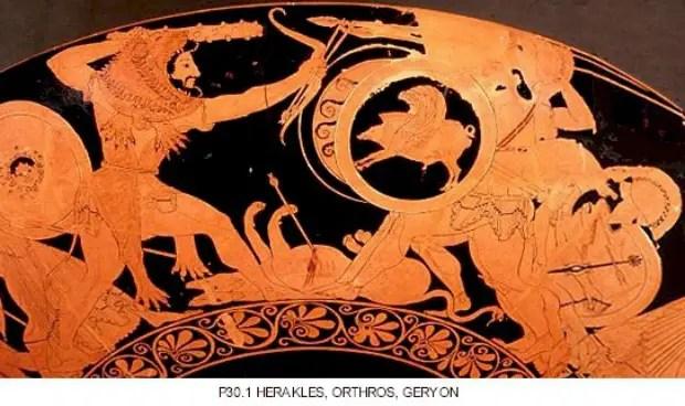 HeraclesOrtroGerion - La captura de la manada de Gerión: el 12º trabajo de Hércules