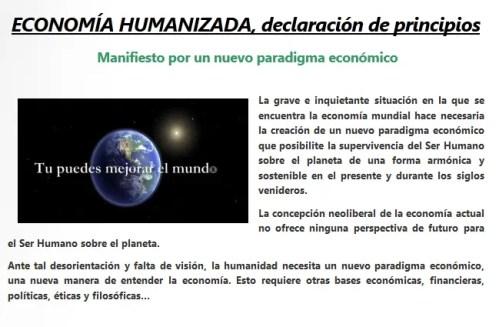 manifiesto economia humanizada - manifiesto economia humanizada