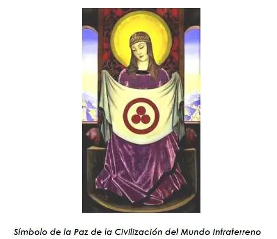 tierra hueca simbolo paz - LA TIERRA HUECA: aperturas solares, dos nuevos continentes y civilización intraterrena