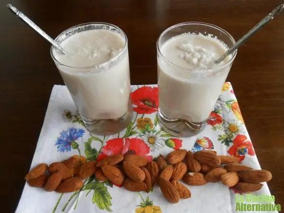 leche de almendras y coco
