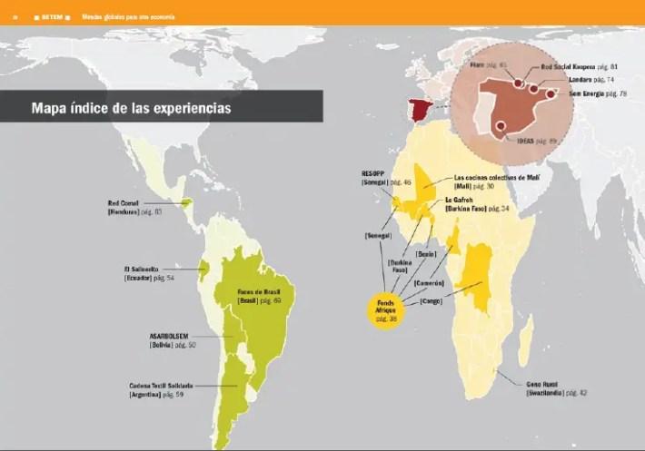 mapa - Miradas globales para OTRA ECONONOMÍA: pdf gratuito con 15 experiencias