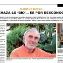 """mariano bueno - """"Si se rechaza lo BIO es por desconocimiento"""". Mariano Bueno, Odile Fernández, Waldorf y más temas en el pdf de Biocultura 2013"""