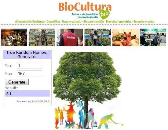 Ganadores Biocultura Barcelona 2013 sorteo - GANADORES del sorteo de entradas para Biocultura Barcelona 2013