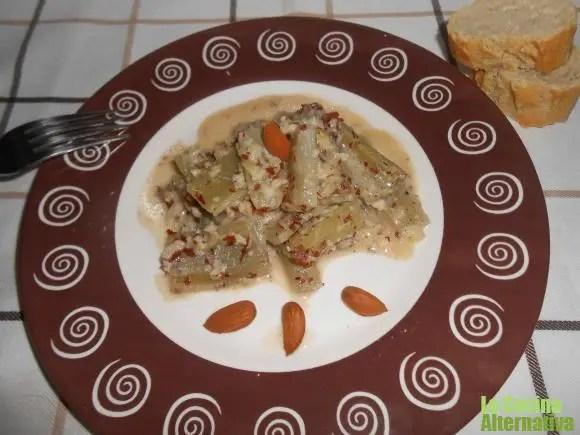 cardo - Filetes de seitán a la milanesa sobre cuscus de coliflor y 4 recetas más