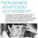 """sqm - """"Nos hemos adaptado a lo tóxico. Aviso a la sociedad"""" La Dra. Pilar Muñoz-Calero en la revista online El Color del Dinero 29"""