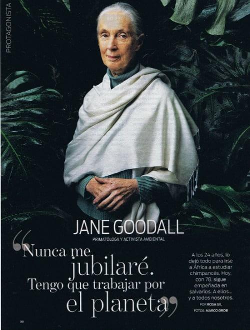 """Jane Goodall1 - """"Nunca me jubilaré. Tengo que trabajar por el planeta"""" Jane Goodall"""