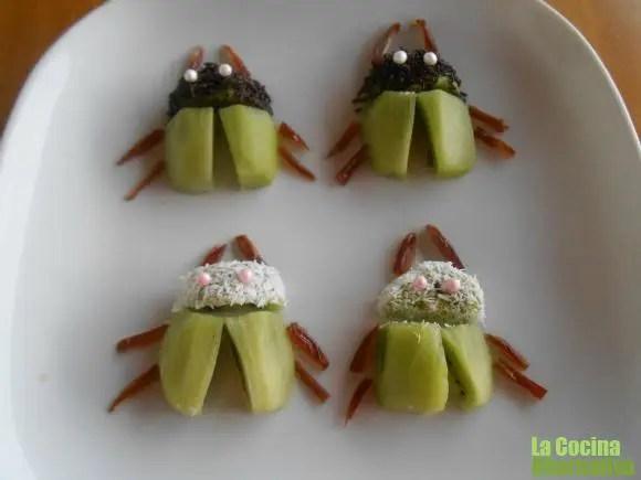 escarabajos kiwi - Germinados a dos manos y 4 RECETAS más