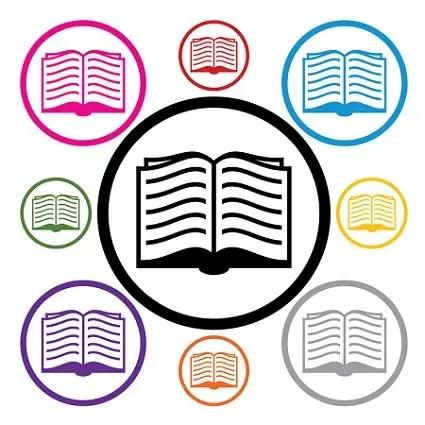 Libros a compartir - vector set of book symbols