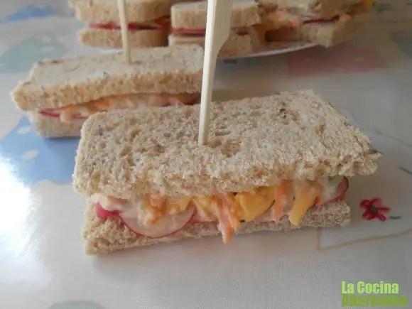 sandwiches - Espárragos frescos con mayonesa de pera y avellanas y 4 recetas más en La Cocina Alternativa