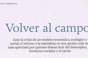 volver al campo - VOLVER AL CAMPO: una opción a valorar (revista Integral) 3/3