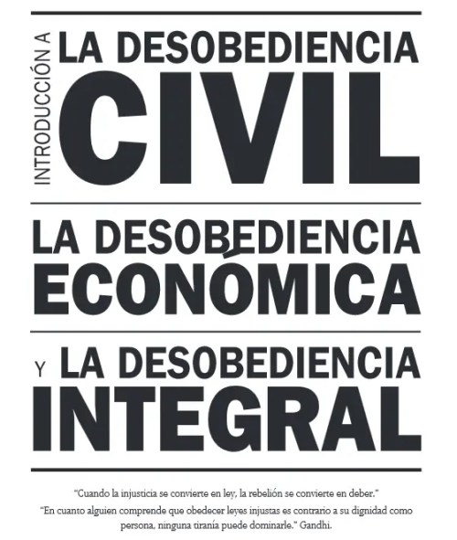 desobediencia civil - desobediencia civil