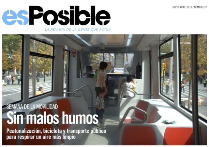 sin malos humos - SIN MALOS HUMOS: peatonalización, bicileta y transporte público. Revista online esPosible nº 37