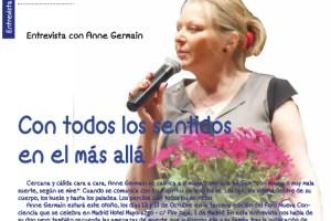 """anne germain - """"El plano espiritual es de continuo aprendizaje"""" Entrevista a Anne Germain en la revista online Espacio Humano 178"""