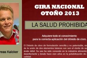 """salud prohibida - Gira por España de Andreas Kalcker: """"La salud está en tus manos"""""""