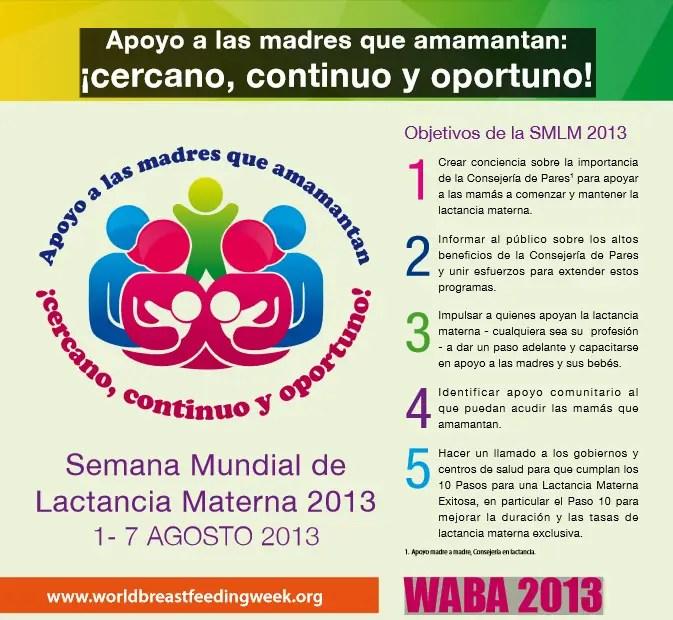 semana lactancia 2013 - Semana Internacional de la Crianza en Brazos 2013 y Semana Mundial de la Lactancia Materna