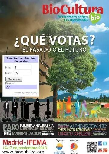 Ganadores sorteo en EBA Biocultura Madrid 2013 - GANADORES Sorteo entradas BIOCULTURA Madrid 2013
